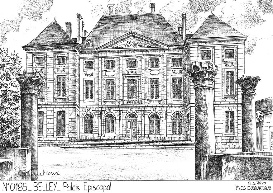 Carte Postale N° 01085 - BELLEY - palais épiscopal