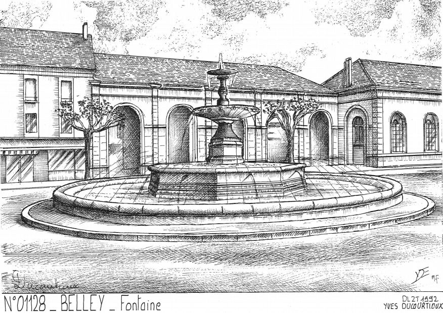 Carte Postale N° 01128 - BELLEY - fontaine