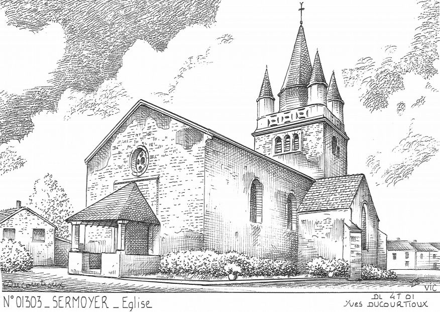 Cartes postales SERMOYER - église