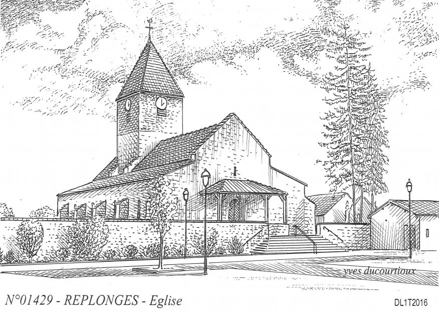 Carte Postale N° 01429 - REPLONGES - église