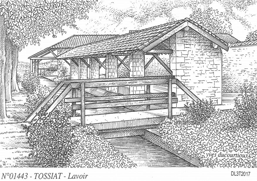 Carte Postale N° 01443 - TOSSIAT - lavoir