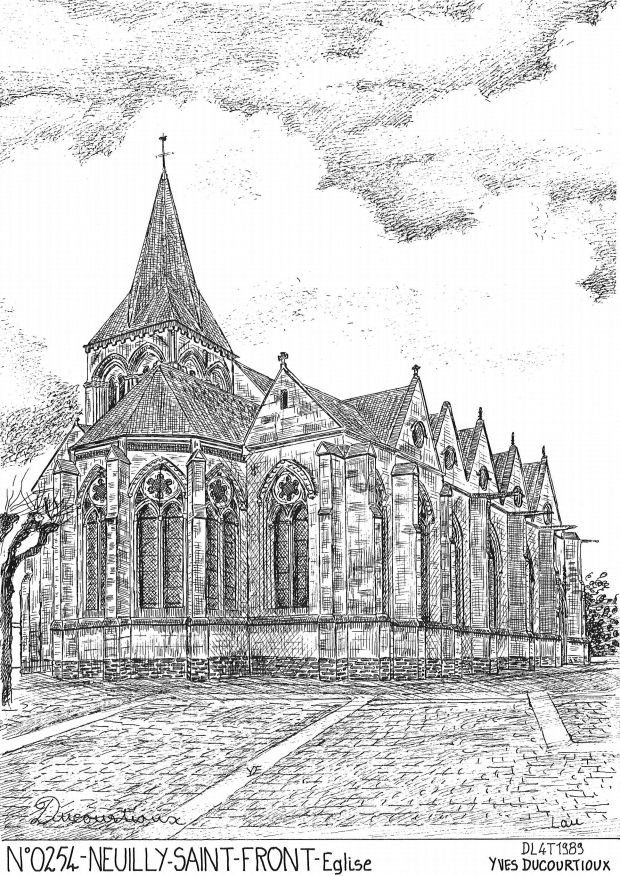 Carte Postale N° 02054 - NEUILLY ST FRONT - église