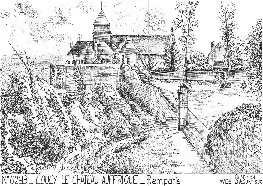 Carte Postale N° 02093 - COUCY LE CHATEAU AUFFRIQUE - remparts