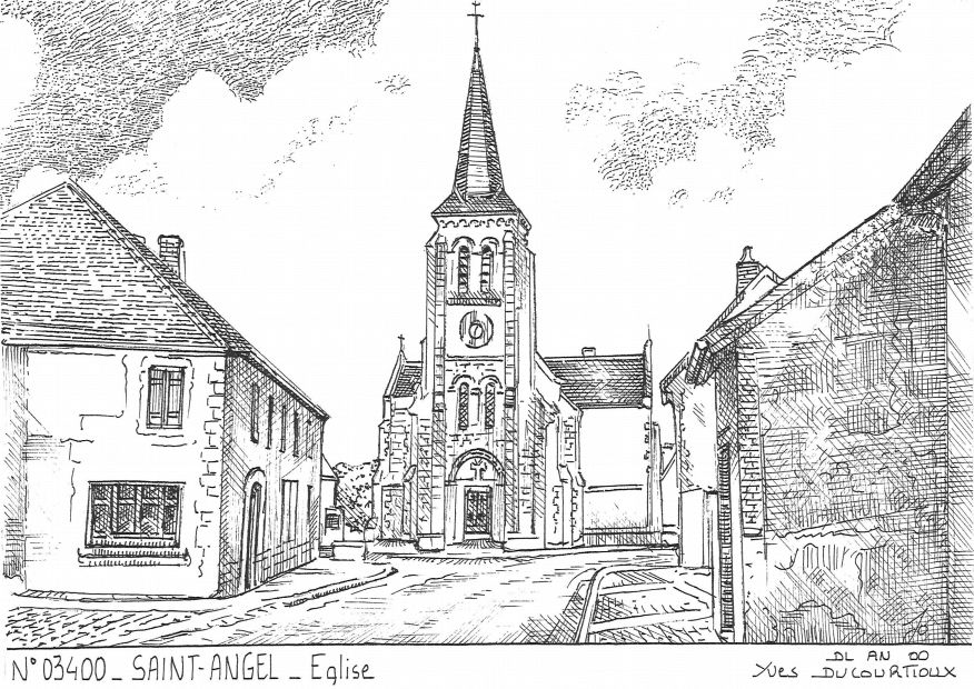 Carte Postale N° 03400 - ST ANGEL - église