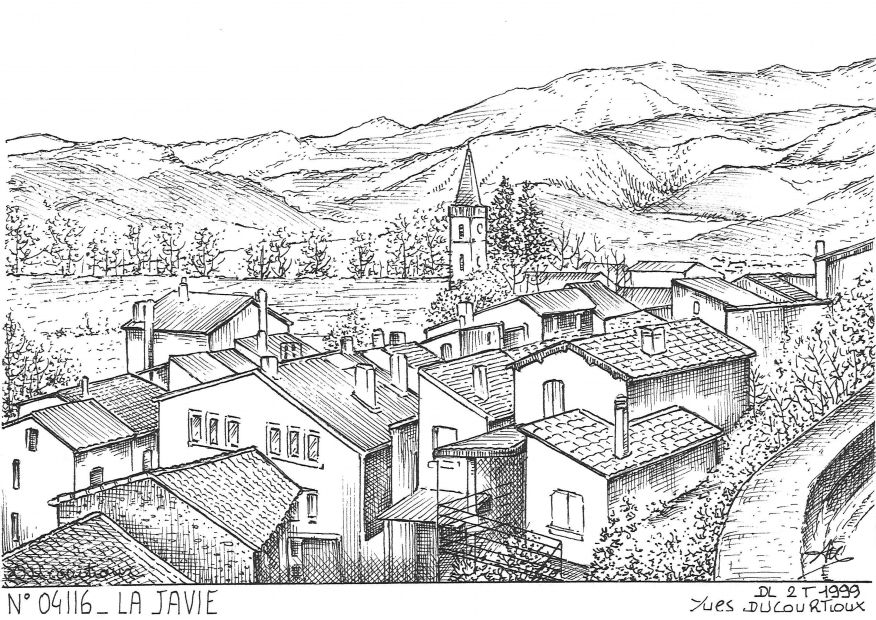 Carte Postale N° 04116 - LA JAVIE - vue