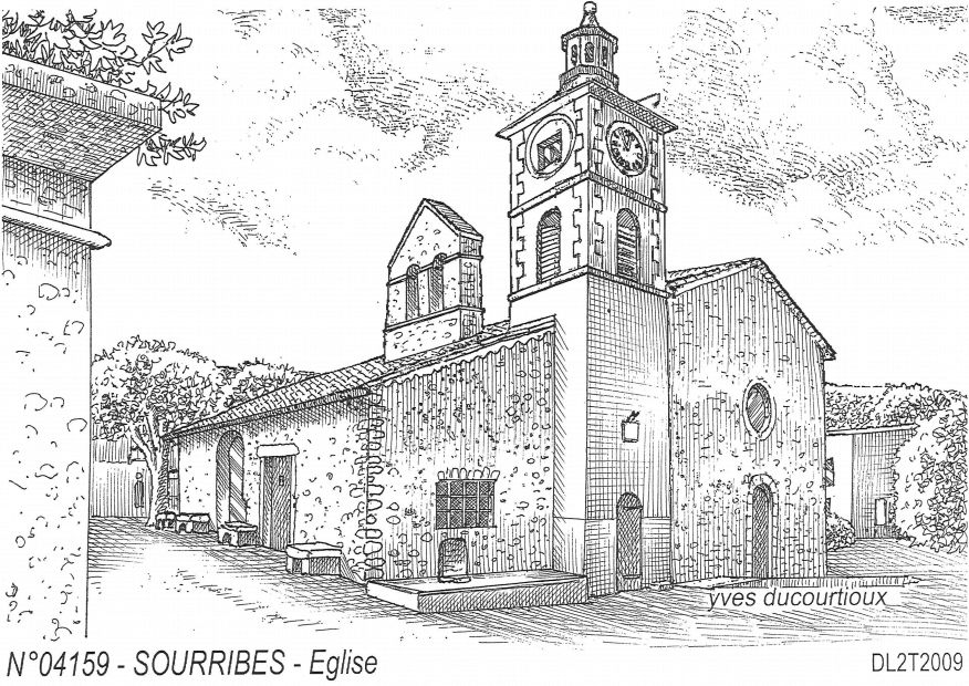 Carte Postale N° 04159 - SOURRIBES - église