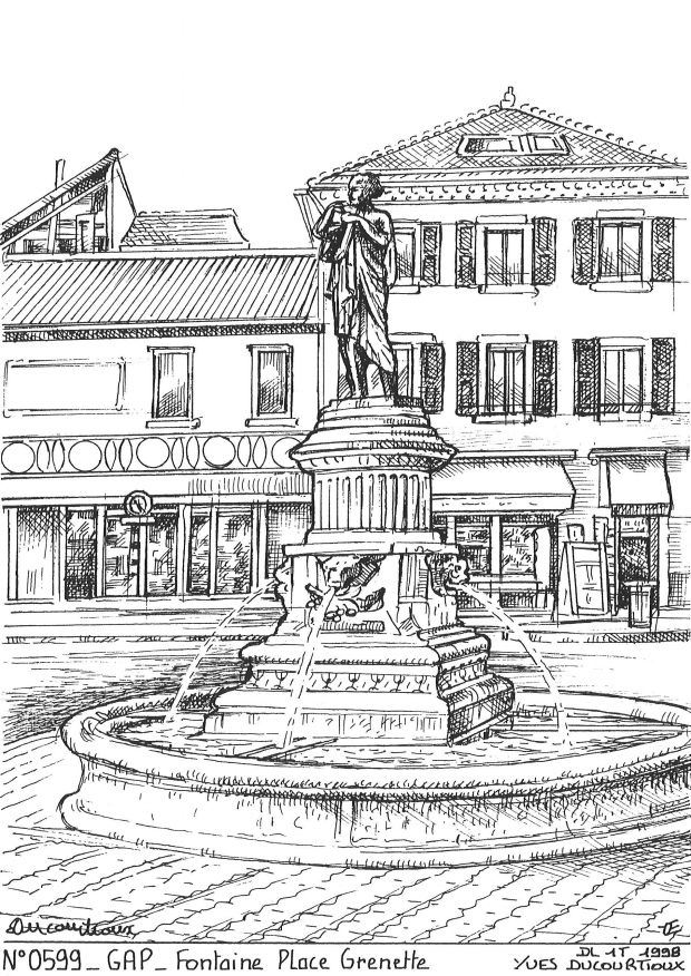 Carte Postale N° 05099 - GAP - fontaine place grenette