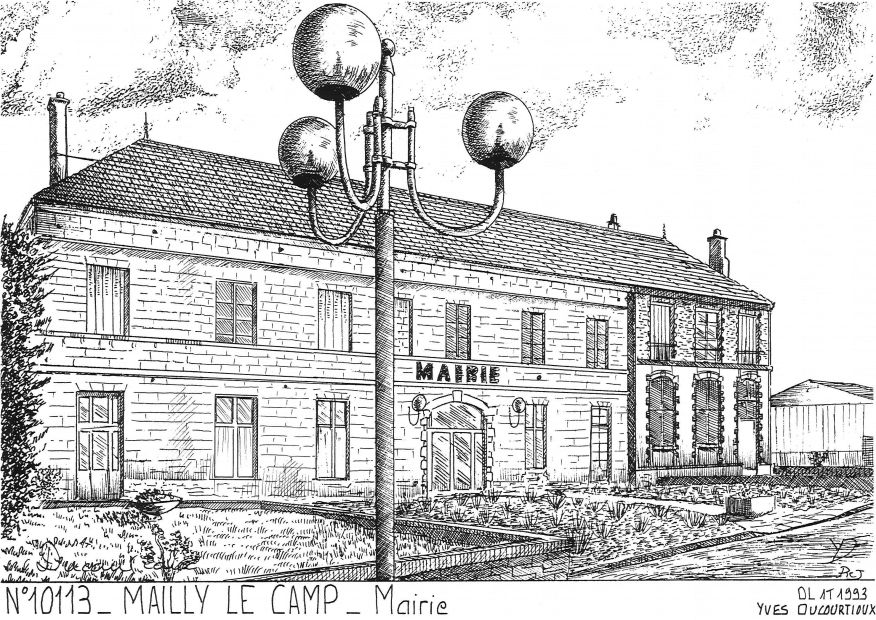 Carte Postale N° 10113 - MAILLY LE CAMP - mairie