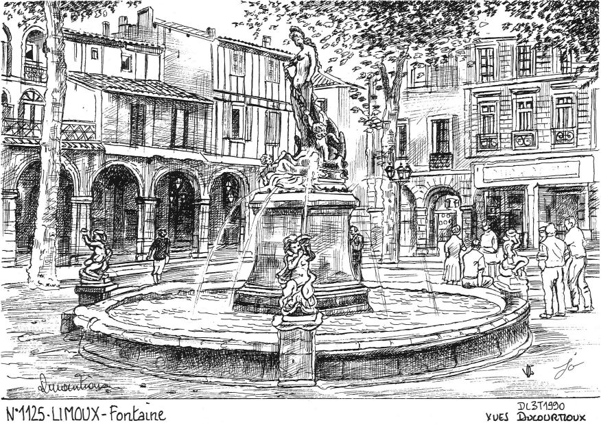Carte Postale N° 11025 - LIMOUX - fontaine