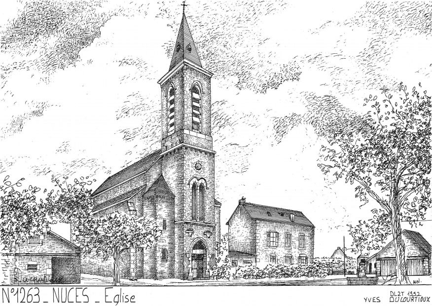 Carte Postale N° 12063 - NUCES - église