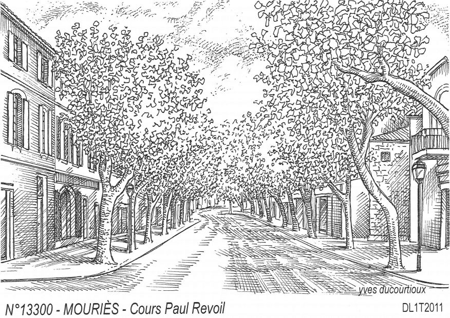 Cartes postales MOURIES - cours paul revoil