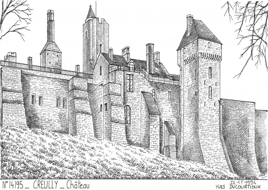 Cartes postales CREULLY - château