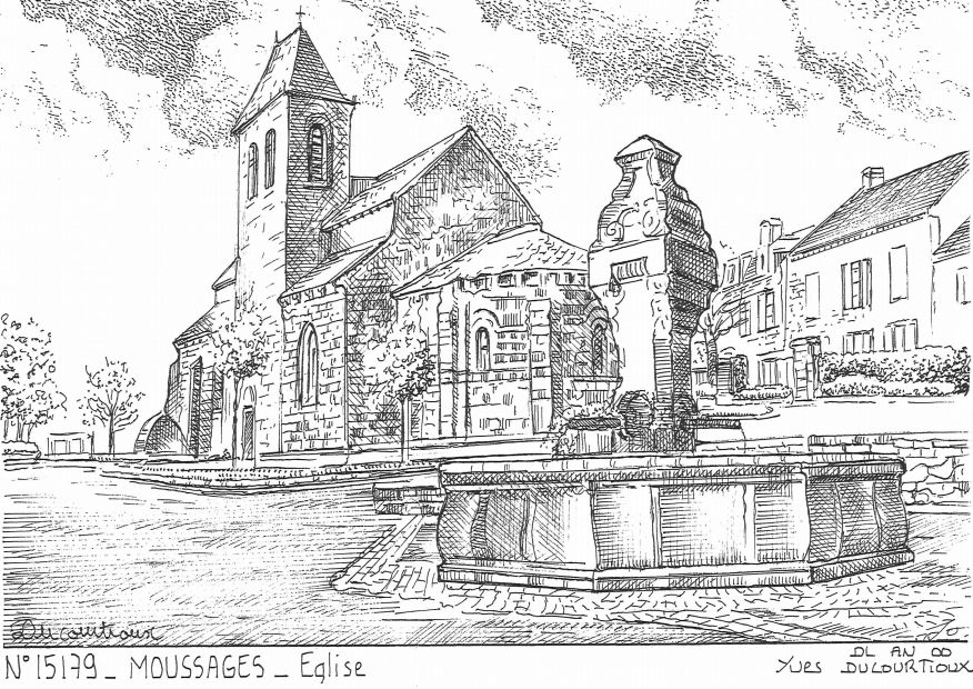 Cartes postales MOUSSAGES - église