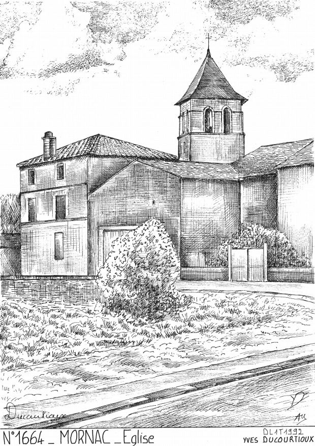 Carte Postale N° 16064 - MORNAC - église