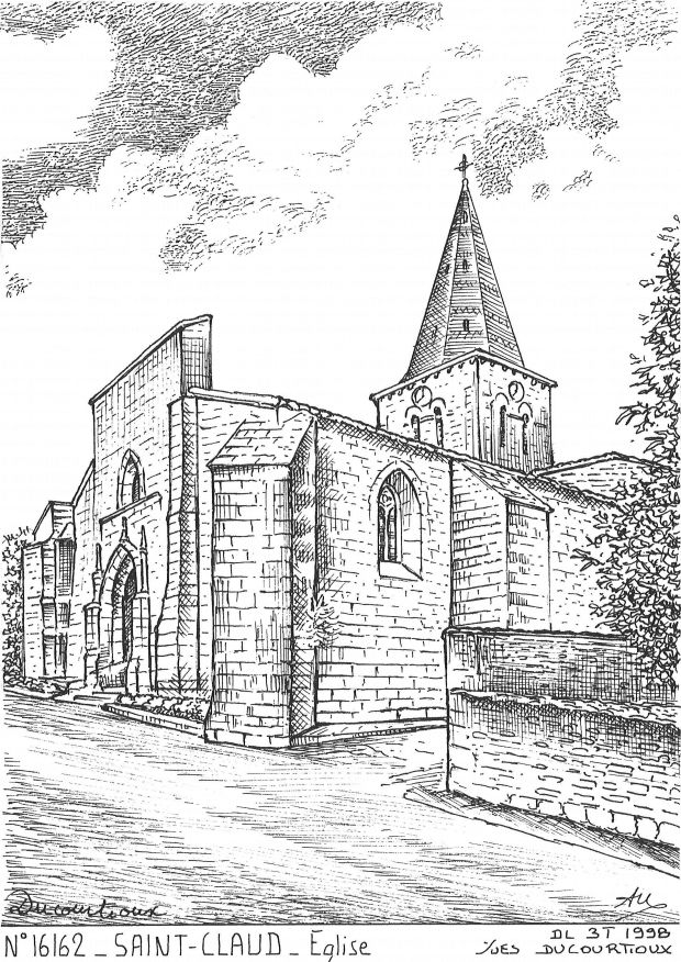 Carte Postale N° 16162 - ST CLAUD - église