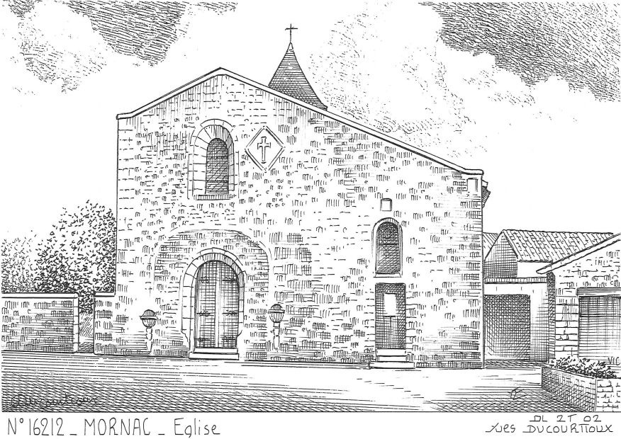Carte Postale N° 16212 - MORNAC - église