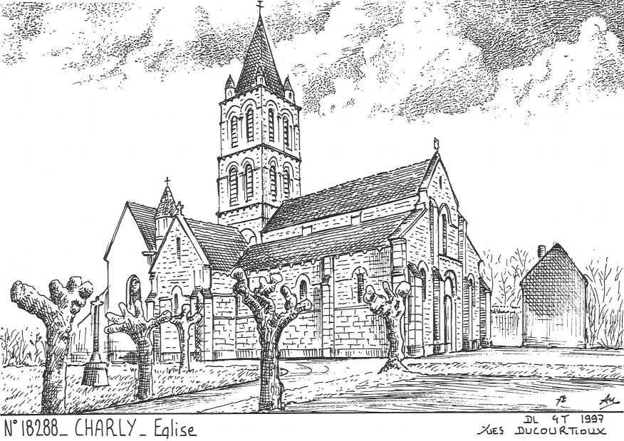 Carte Postale N° 18288 - CHARLY - église