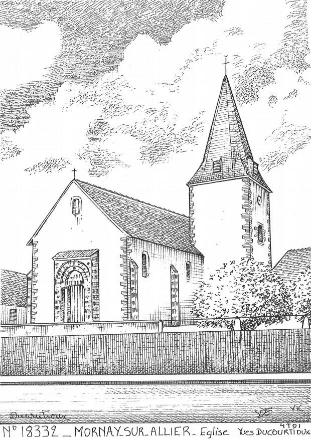 Cartes postales MORNAY SUR ALLIER - église