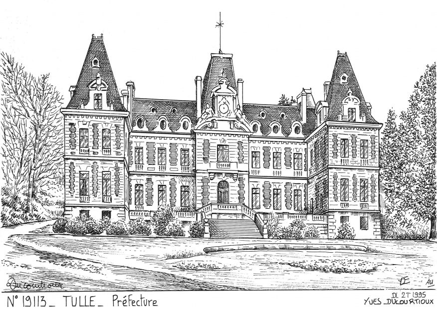 Carte Postale N° 19113 - TULLE - préfecture