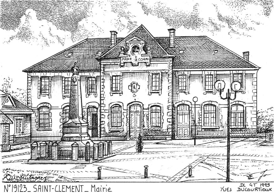 N° 19123 - ST CLEMENT - mairie
