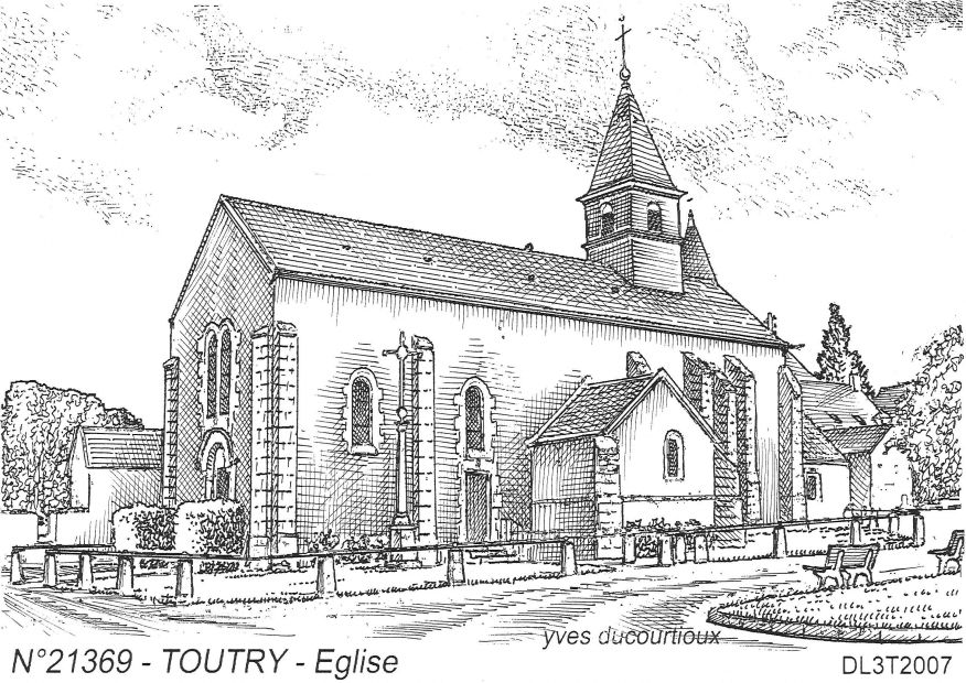 Carte Postale N° 21369 - TOUTRY - église
