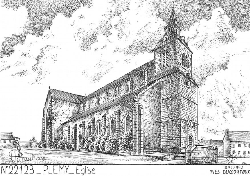 Carte Postale N° 22123 - PLEMY - église