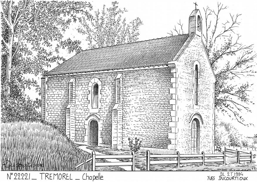 Carte Postale N° 22221 - TREMOREL - chapelle
