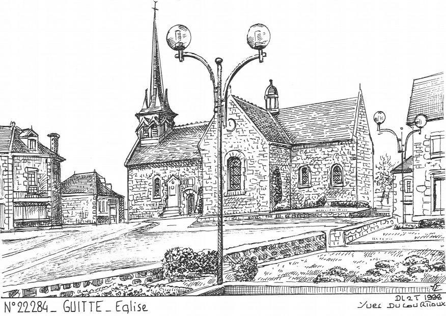 Carte Postale N° 22284 - GUITTE - église