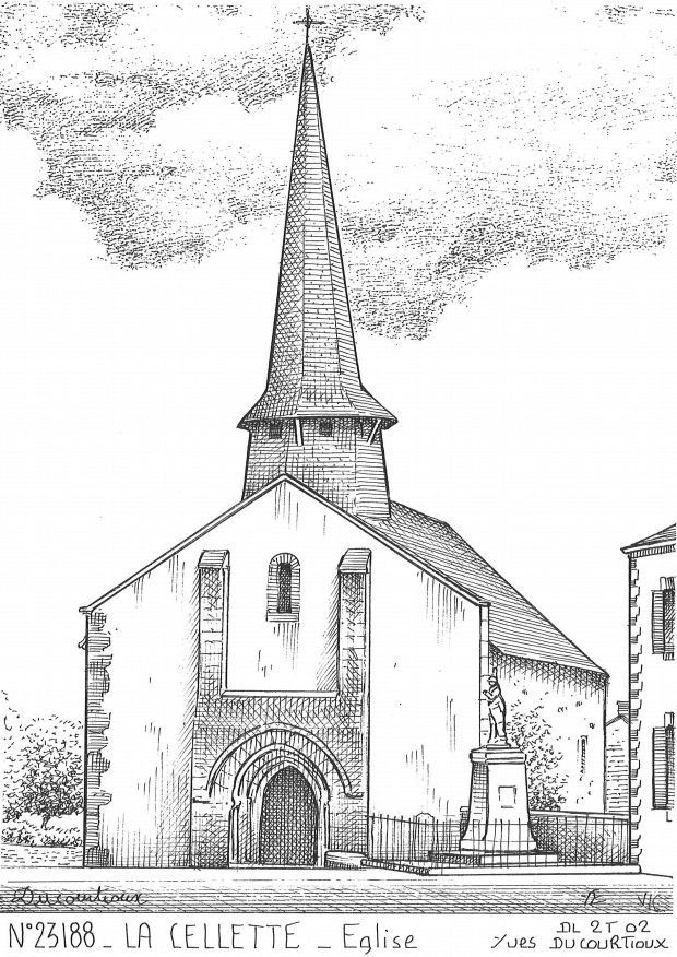Carte Postale N° 23188 - LA CELLETTE - église