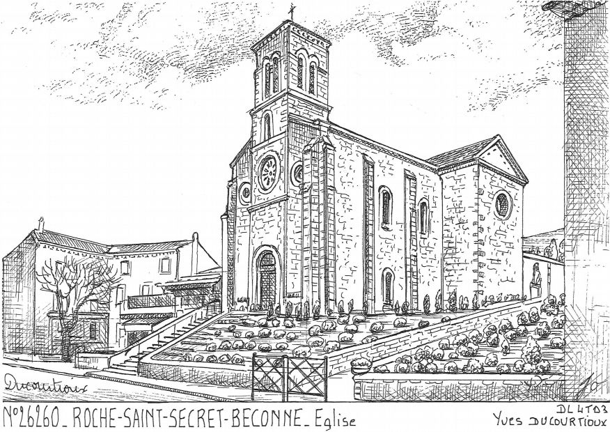 Carte Postale N° 26260 - ROCHE ST SECRET BECONNE - église
