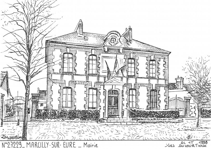 Carte Postale N° 27229 - MARCILLY SUR EURE - mairie