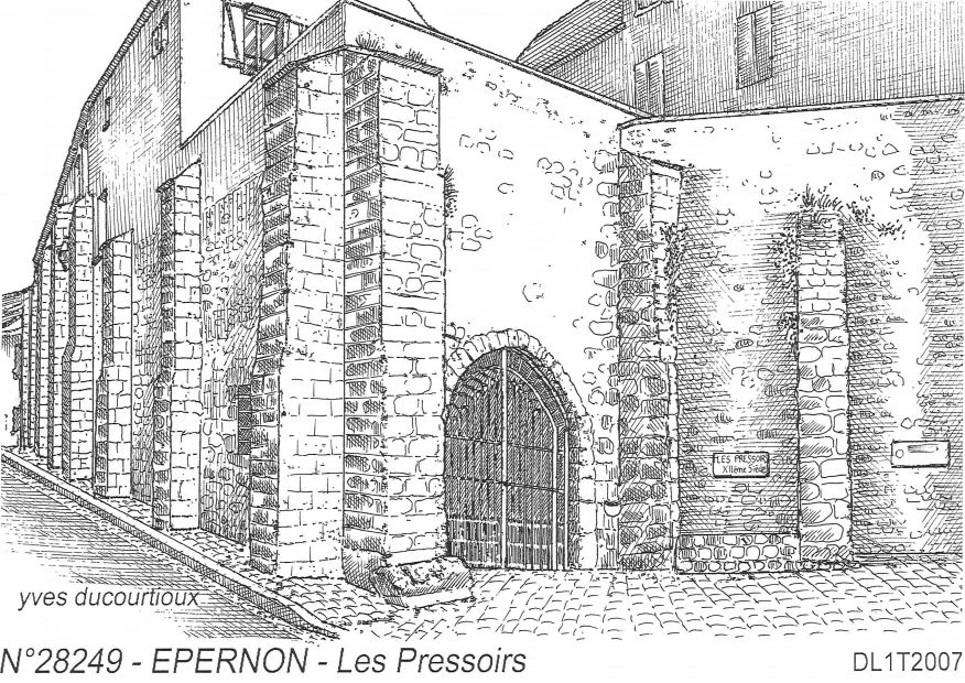 Carte Postale N° 28249 - EPERNON - les pressoirs