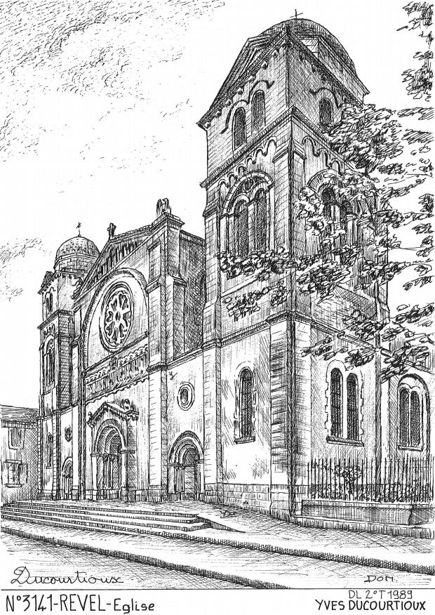 Carte Postale N° 31041 - REVEL - église