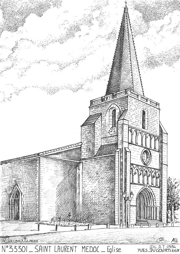 Carte Postale N° 33301 - ST LAURENT MEDOC - église