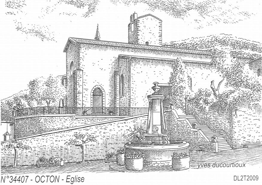 Cartes postales OCTON - église