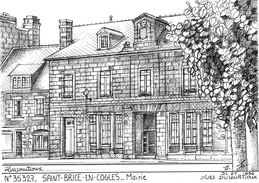 Carte Postale N° 35327 - ST BRICE EN COGLES - ancienne mairie