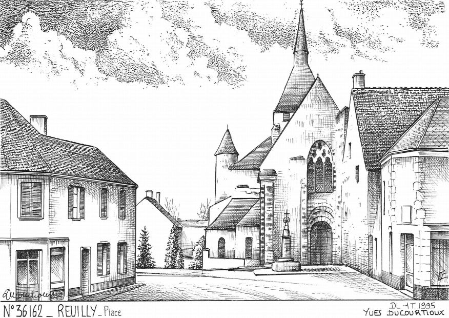 Carte Postale N° 36162 - REUILLY - place