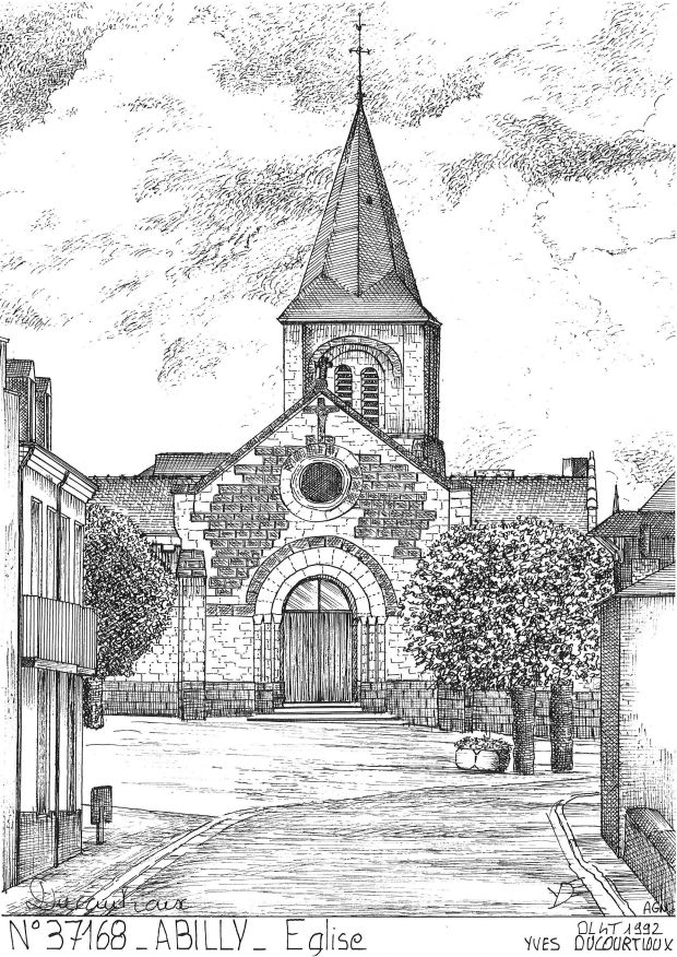 Carte Postale N° 37168 - ABILLY - église