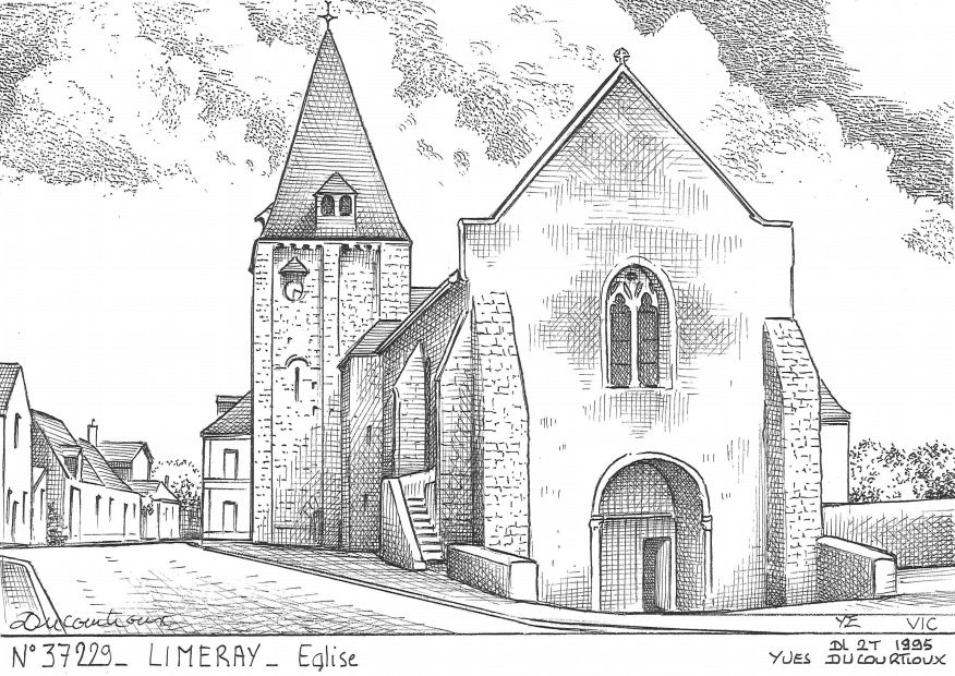 Carte Postale N° 37229 - LIMERAY - église