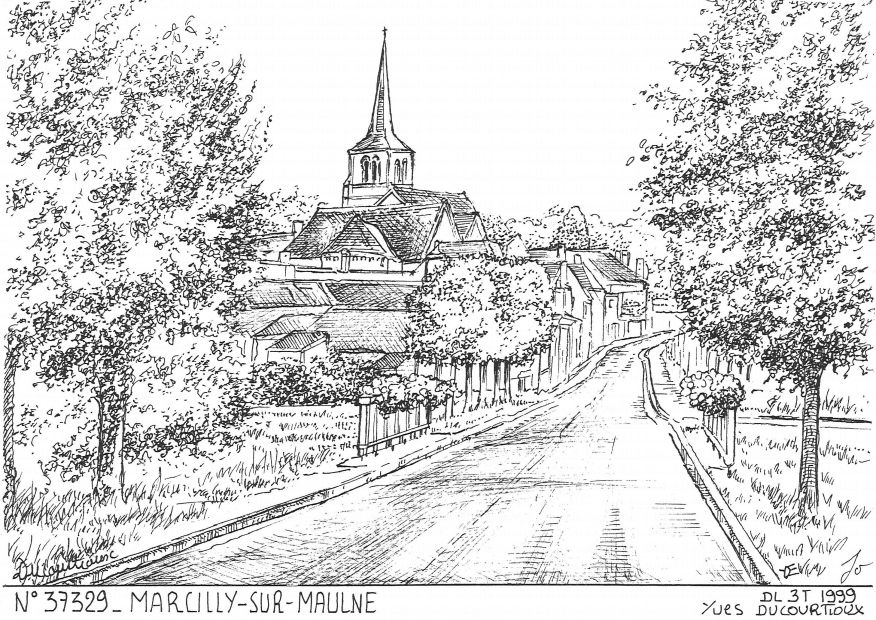 Carte Postale N° 37329 - MARCILLY SUR MAULNE - vue