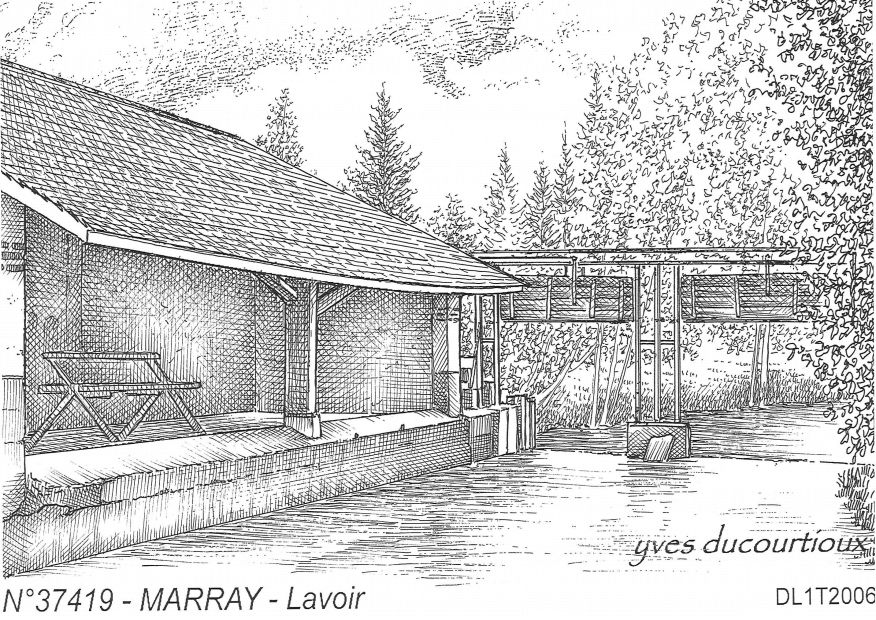 Carte Postale N° 37419 - MARRAY - lavoir