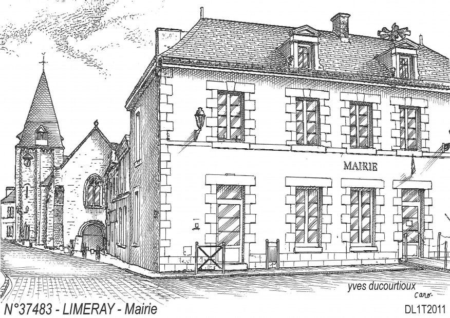 N° 37483 - LIMERAY - mairie
