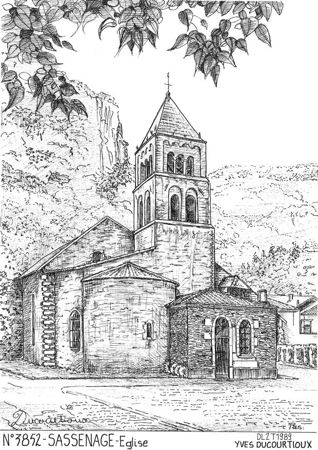 Carte Postale N° 38052 - SASSENAGE - église