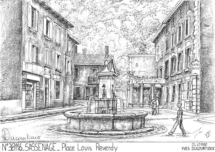 Cartes postales SASSENAGE - place louis reverdy