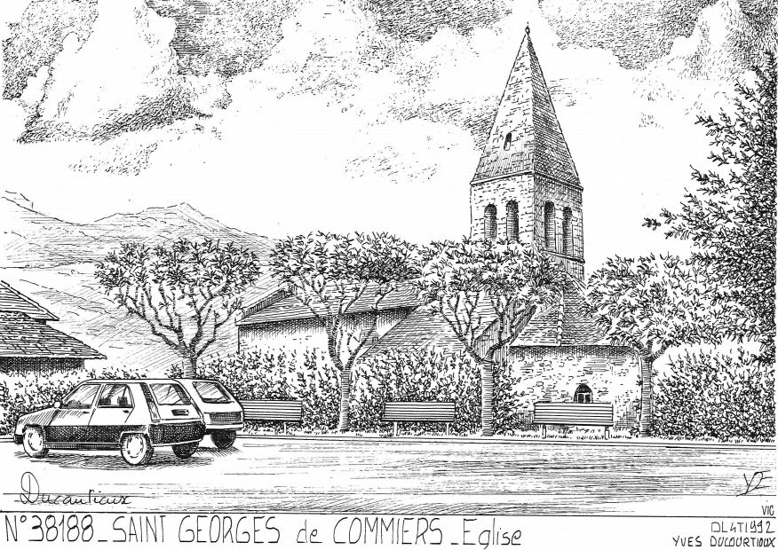 Carte Postale N° 38188 - ST GEORGES DE COMMIERS - église