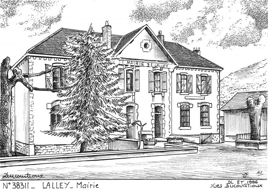 Carte Postale N° 38311 - LALLEY - mairie