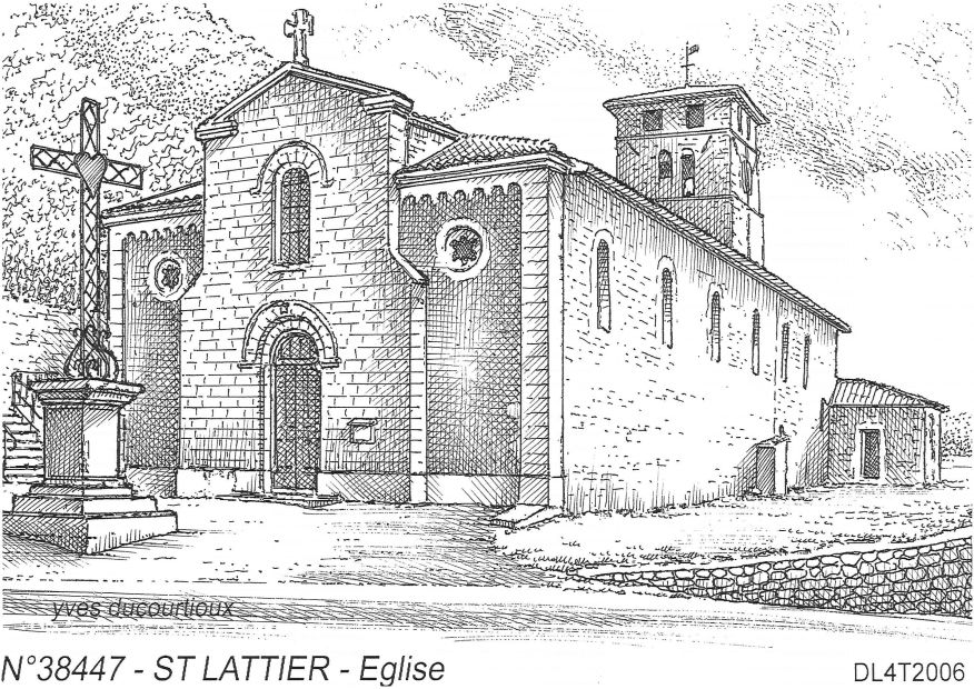 Carte Postale N° 38447 - ST LATTIER - église
