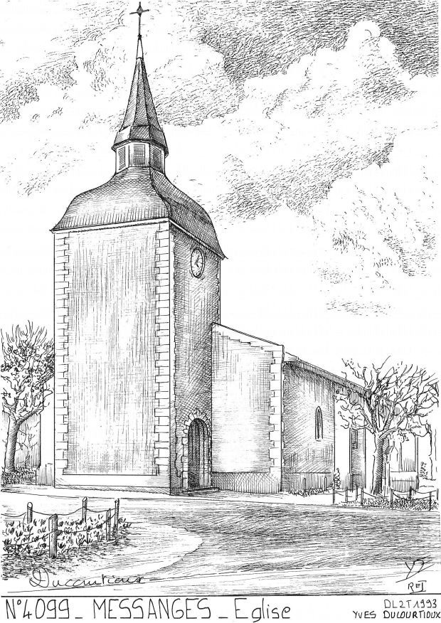 Carte Postale N° 40099 - MESSANGES - église