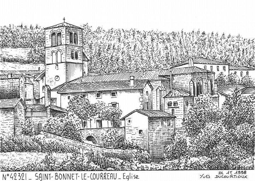 Carte Postale N° 42321 - ST BONNET LE COURREAU - église