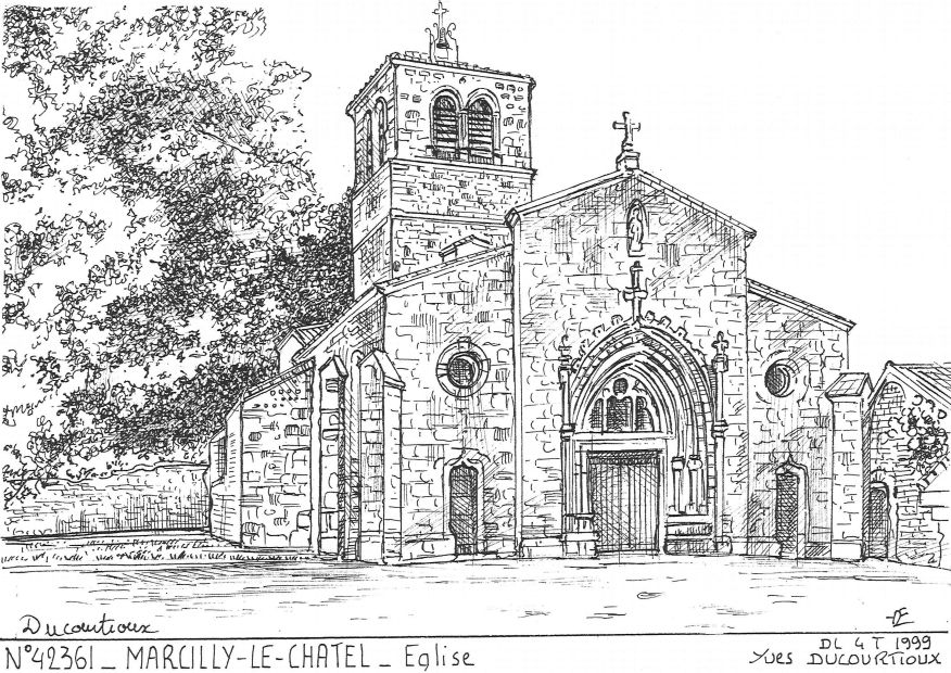 Carte Postale N° 42361 - MARCILLY LE CHATEL - église